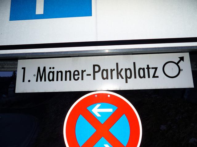 Männer-Parkplatz